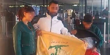 Hisbollah-Fahne Wien Flughafen