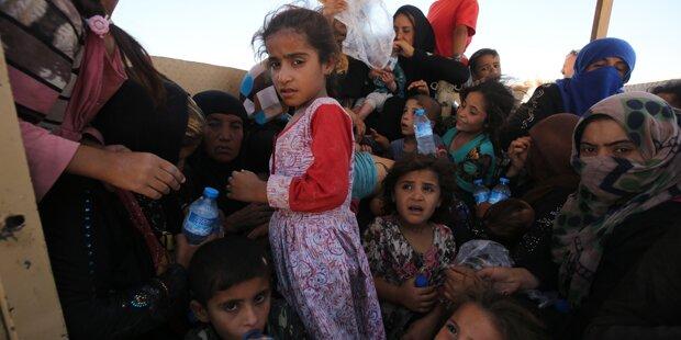 1 Mio. Binnenflüchtlinge im Irak befürchtet