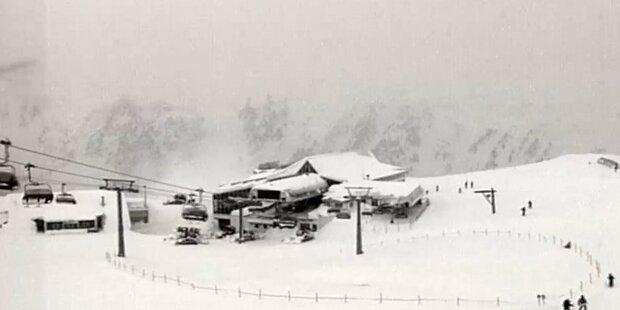 Die Schneemassen in Ischgl, Tirol