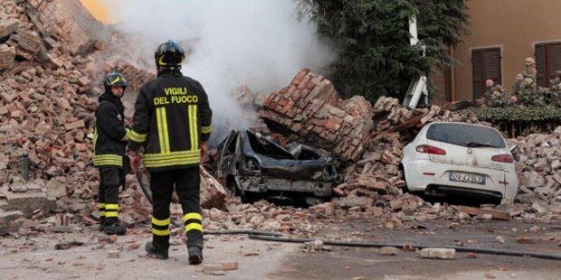 Erdbeben in Norditalien - Sechs Tote und 50 Verletzte