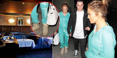 J.Lo: Im Gammellook ins Nobelrestaurant