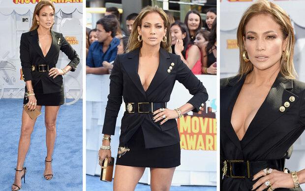 J.Lo versext den Blue Carpet