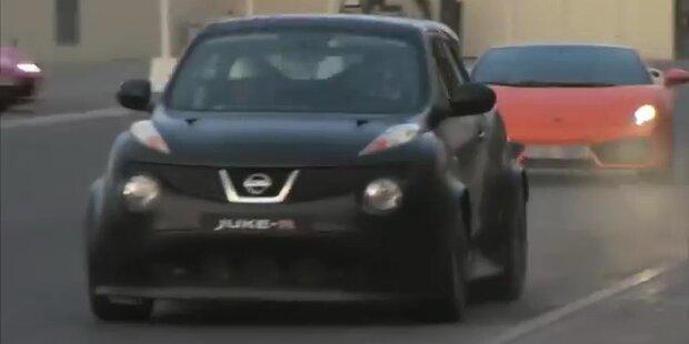 Mini-Nissan versägt Ferrari, Lambo & SLS