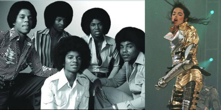 Jackson Five mit King of Pop auf Tour