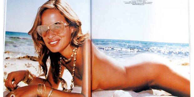 Jade Jagger nackt auf Ibiza