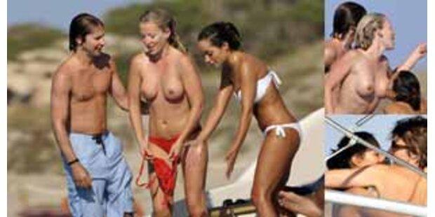 James Blunt & CSI-Star Dourdans heißer Sommerspaß