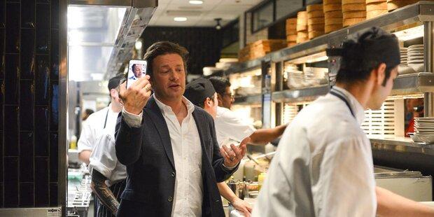 Starkoch Jamie Oliver in Wien vor Start