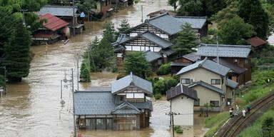 Japan Überschwemmung Hochwasser