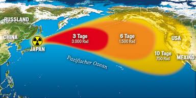 Atomwolke gefährdet Tokio & Kalifornien