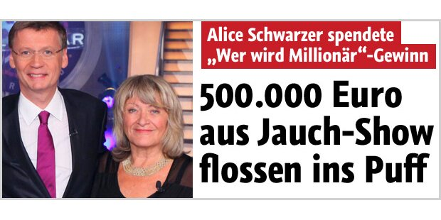 Alice Schwarzers Geld floss ins Puff