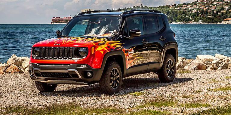 Jeep Renegade im Harley-Look