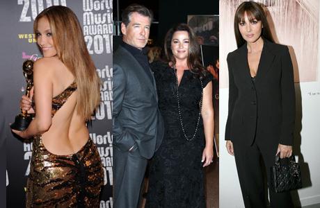 Jennifer Lopez, Keely Brosnan (neben Ehemann Pierce, Monica Bellucci