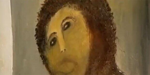 Alle wollen zerstörtes Jesus-Bild sehen