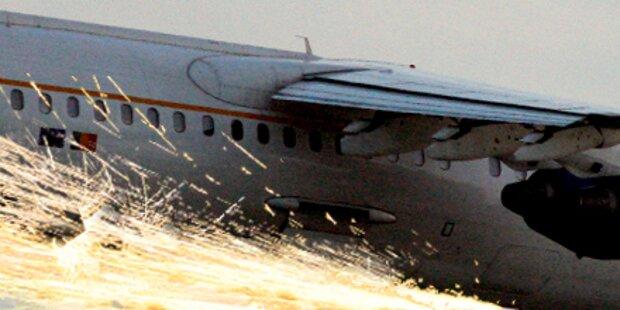 Helden-Pilot landet Jet auf einem Reifen
