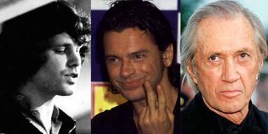 Jim Morrison, Michael Hutchence, David Carradine