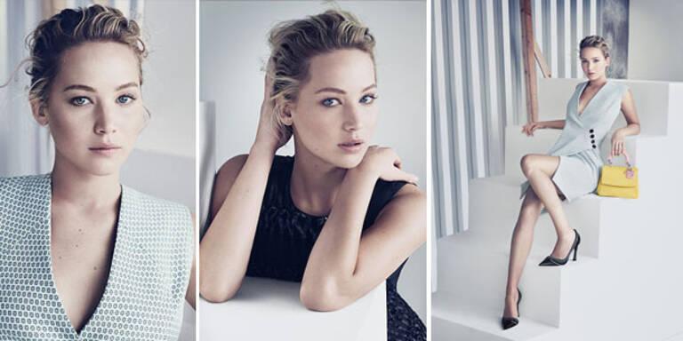 Jennifer Lawrence strahlend schön in Dior