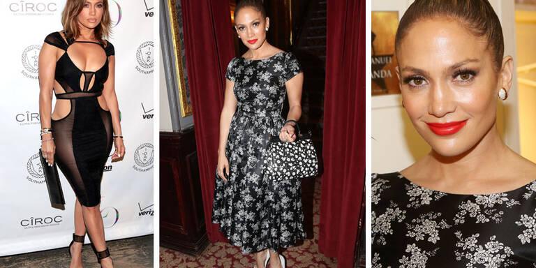 Jennifer Lopez im biederen Latina-Omi-Look