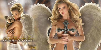 Joanna Krupa als sexy Peta-Engel