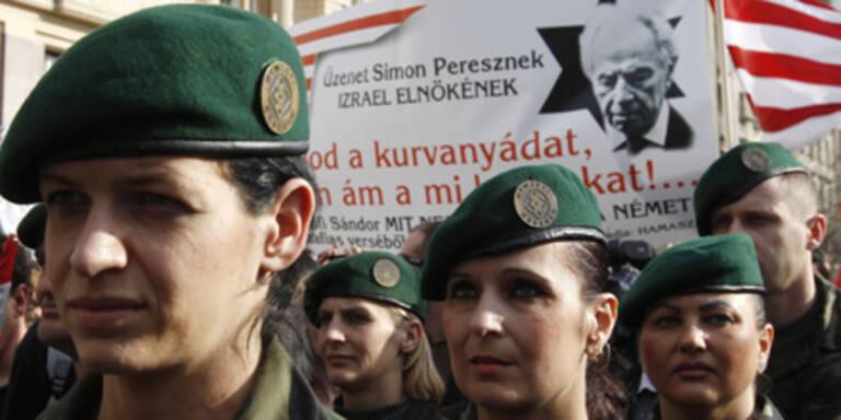 Jobbik-Anhänger demonstrierten vergangene Woche in Budapest.