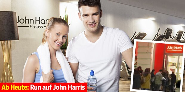 Alle wollen John Harris Fitnessaktion