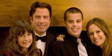 John Travolta und Kelly Preston mit Ella Bleu und Jett