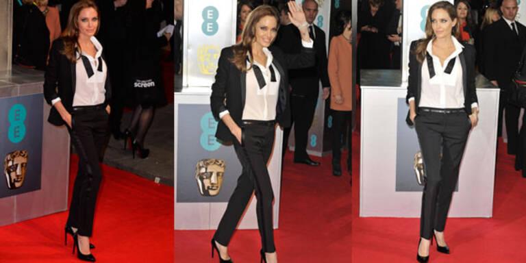 Angelina Jolie macht Smoking Red Carpet fähig