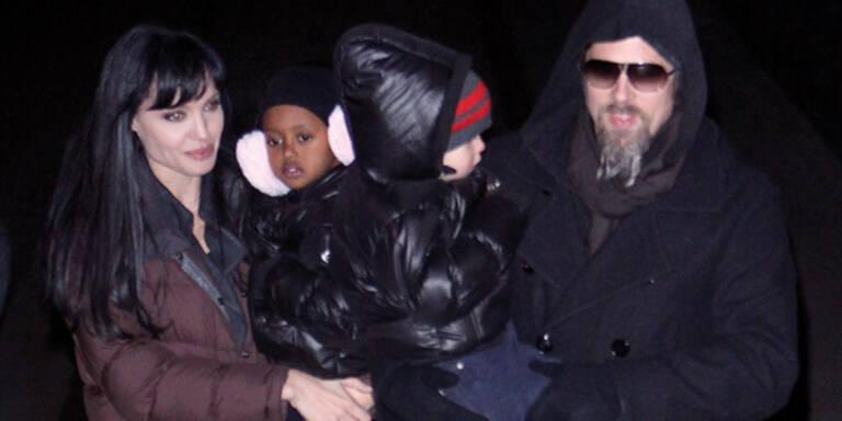 Angelina Jolie zieht sich warm an