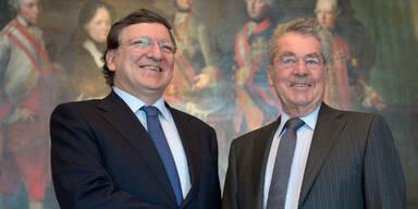 Jose Manuel Barroso  und Heiz Fischer