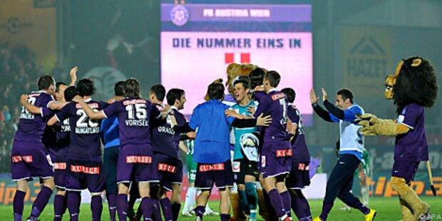 Austria nach 1:0-Sieg im Derby noch im Titelrennen