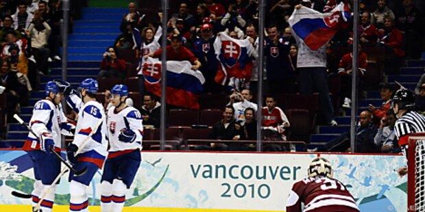 Eishockey: Slowakei fertigt Lettland 6:0 ab
