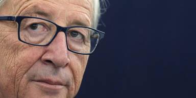 Juncker rastet in Sitzung aus