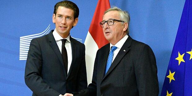 Juncker mit Lob für Kurz-Regierung