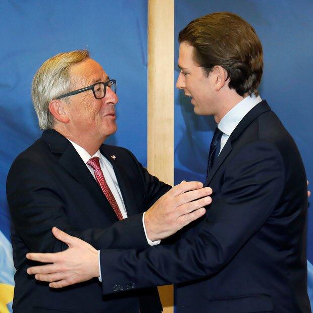 Kurz stiehlt Kern in Brüssel die Show