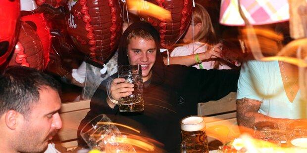 Justin Bieber feiert am Oktoberfest