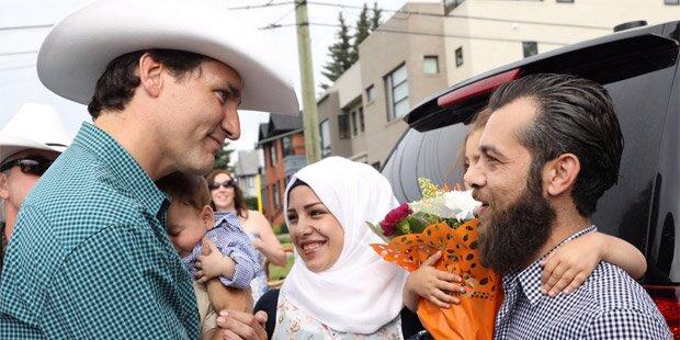 Justin Trudeau trifft Justin-Trudeau Adam Bilal