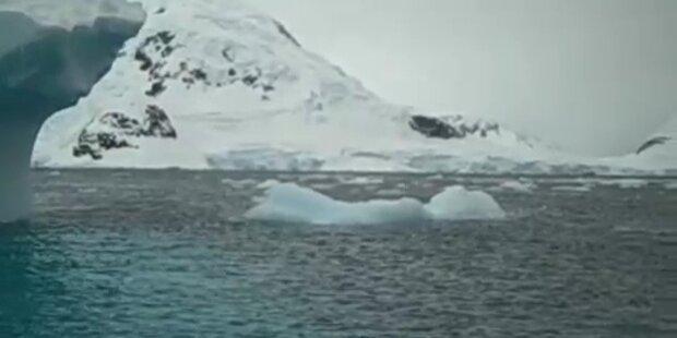 Die polaren Eisschilde schmelzen langsam