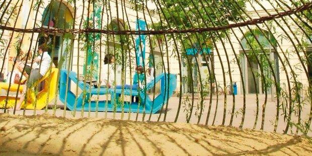 Lebende Sandkiste für Museumsquartier