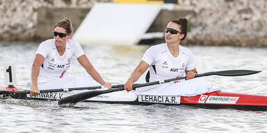 Lehaci & Schwarz im Kajak-Zweier über 200m