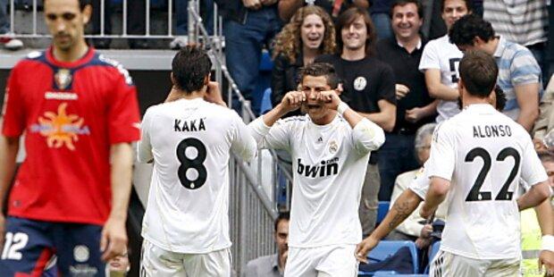 Real Madrid zitterte sich zu 3:2 gegen Osasuna