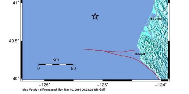 Schweres Erdbeben vor kalifornischer Küste
