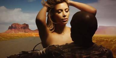 Kanye West und Kim Kasrdashian in neuem Musikvideo