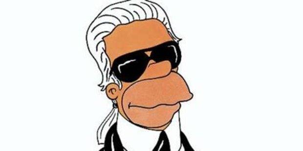 Karl Lagerfeld wird Simpson