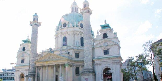 Vandalen-Anschlag auf Karlskirche