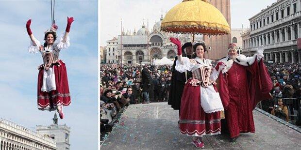 Karneval in Venedig eingeläutet
