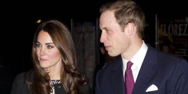 Prinz William und Kate feierten im Zelt