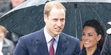 Kate und William im Regen