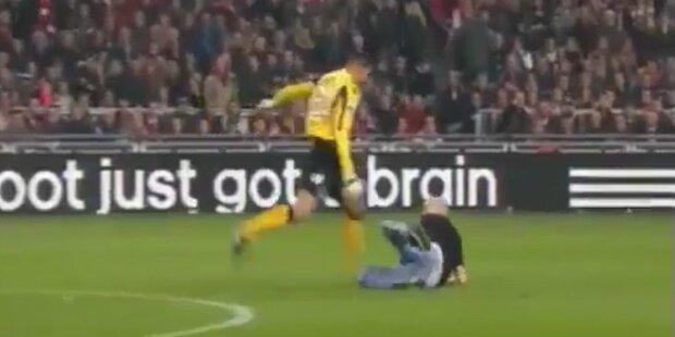 Cup-Skandal Holland: Tormann tritt Fan