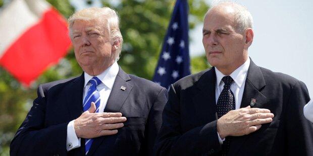Paukenschlag: Trumps Stabschef Kelly tritt zurück
