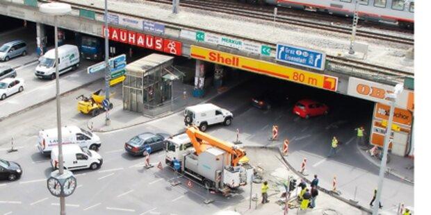 Wiens Baustellen-Chaos