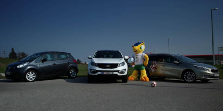 Kia Sondermodelle zur Fußball WM 2014